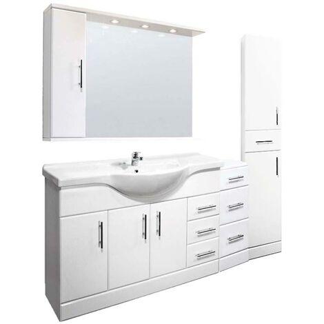 VeeBath Linx 1900mm Vanity Unit Bathroom Furniture Combo Set and Storage Cabinet
