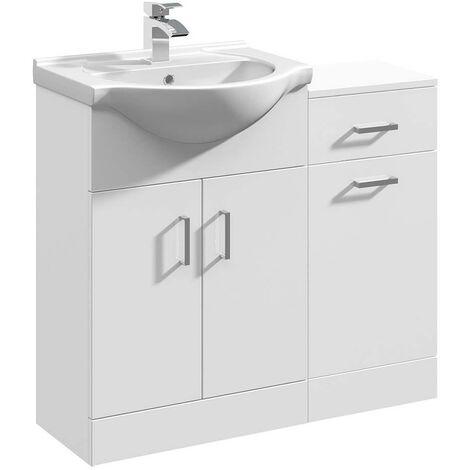 VeeBath Linx Bathroom Furniture Set Vanity Basin Unit Storage Cabinet - 900mm