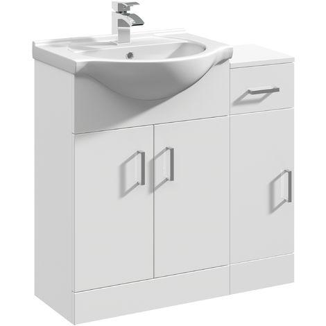 VeeBath Linx Bathroom Furniture Set Vanity Unit Basin Storage Cabinet - 800mm