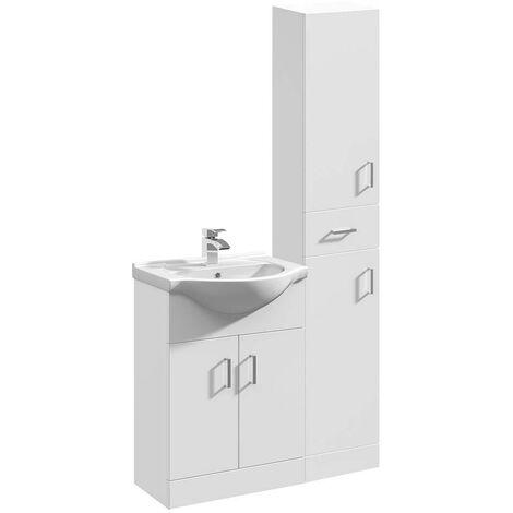 VeeBath Linx Bathroom Furniture Set Vanity Unit Basin Tallboy Cabinet - 900mm