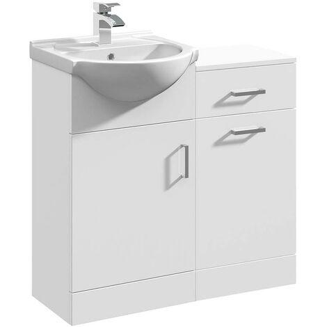 VeeBath Linx Bathroom Furniture Vanity Basin & Laundry Storage Cabinet - 800mm