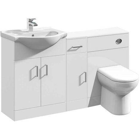 VeeBath Linx Bathroom Vanity WC Toilet Storage Cupboard Furniture Set - 1300mm