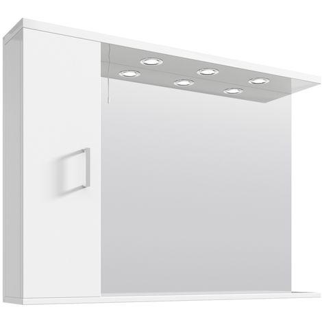 VeeBath Linx Bathroom Mirror Wall Hung Mounted Storage Shelf Lights - 1050mm