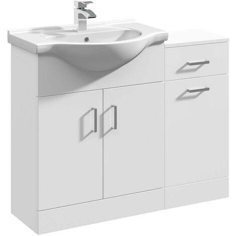 VeeBath Linx Vanity Basin Unit Storage Cabinet Bathroom Furniture Set - 1000mm