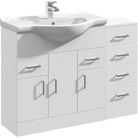 VeeBath Linx Vanity Basin Unit Storage Cabinet Bathroom Furniture Set - 1050mm
