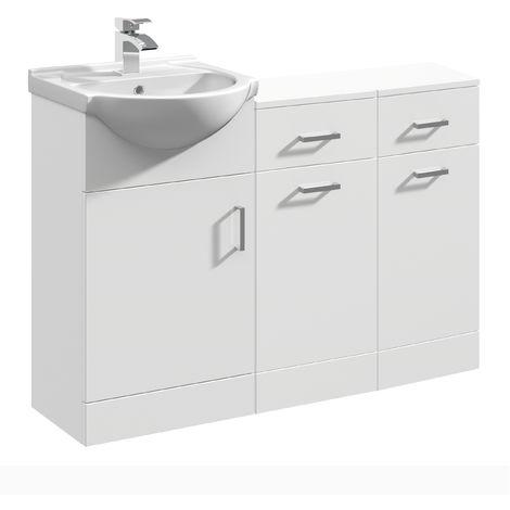 VeeBath Linx Vanity Basin Unit Storage Cabinet Bathroom Furniture Set - 1100mm