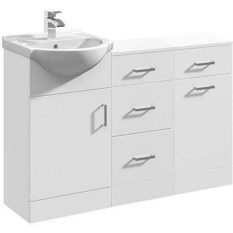 VeeBath Linx Vanity Basin Unit Storage Cabinet Bathroom Furniture Set - 1150mm