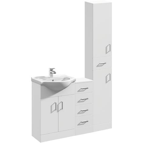 VeeBath Linx Vanity Basin Unit Storage Cabinet Bathroom Furniture Set - 1200mm