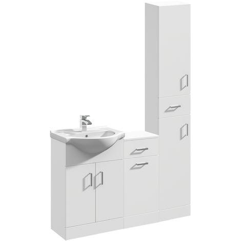 VeeBath Linx Vanity Basin Unit Storage Cabinet Bathroom Furniture Set - 1250mm