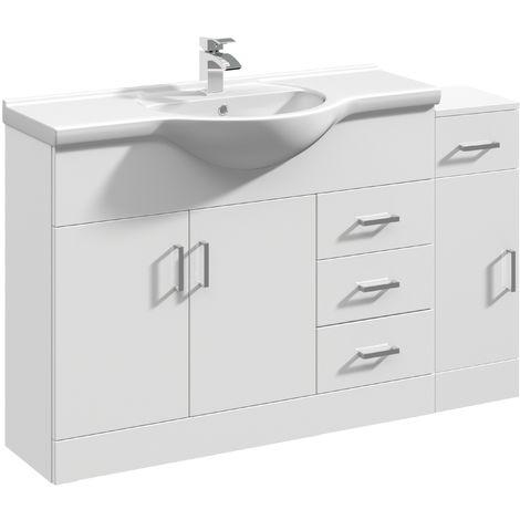 VeeBath Linx Vanity Basin Unit Storage Cabinet Bathroom Furniture Set - 1300mm