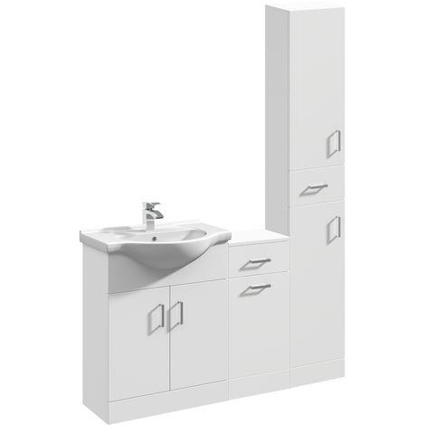 VeeBath Linx Vanity Basin Unit Storage Cabinet Bathroom Furniture Set - 1350mm