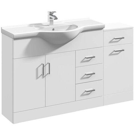 VeeBath Linx Vanity Basin Unit Storage Cabinet Bathroom Furniture Set - 1400mm