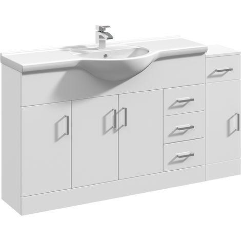 VeeBath Linx Vanity Basin Unit Storage Cabinet Bathroom Furniture Set - 1450mm