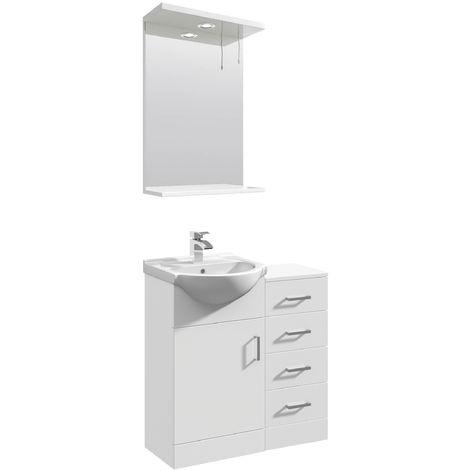 VeeBath Linx Vanity Basin Unit Storage Cabinet Bathroom Furniture Set - 750mm