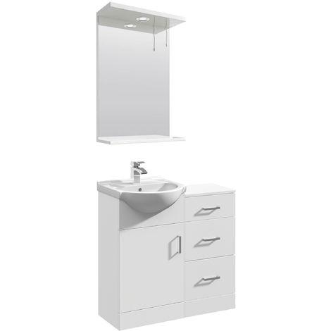 VeeBath Linx Vanity Basin Unit Storage Cabinet Bathroom Furniture Set - 800mm