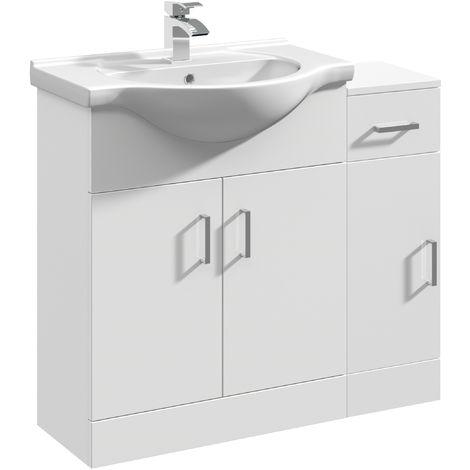 VeeBath Linx Vanity Basin Unit Storage Cabinet Bathroom Furniture Set - 900mm