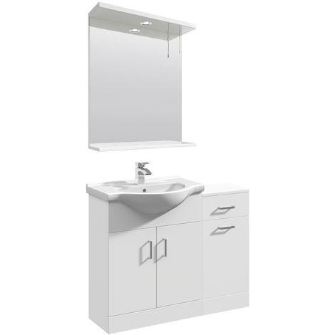 VeeBath Linx Vanity Basin Unit Storage Cabinet Bathroom Furniture Set - 950mm