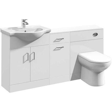VeeBath Linx Vanity Basin Unit Storage Cabinet WC Toilet Furniture Set - 1600mm