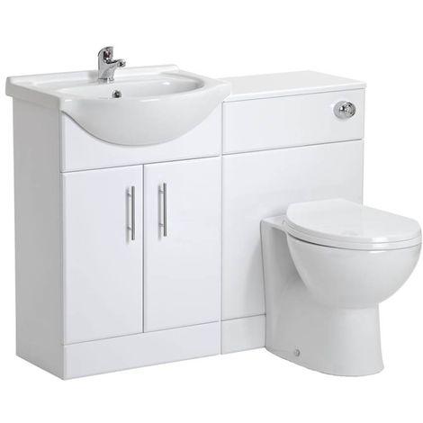 VeeBath Linx Vanity Bathroom Furniture Set WC Toilet Unit Pan Cistern - 1050mm