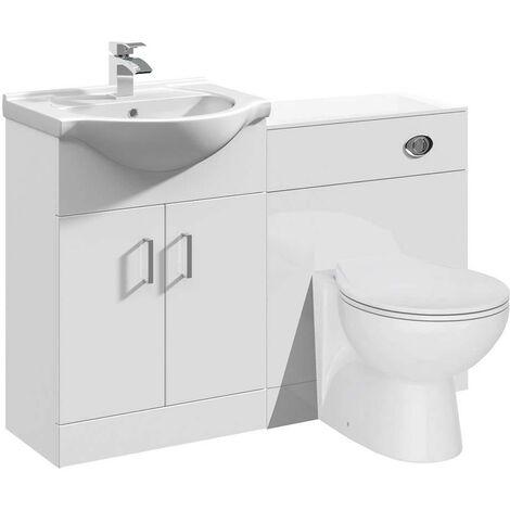 VeeBath Linx Vanity Bathroom Furniture Set WC Toilet Unit Pan Cistern - 1150mm