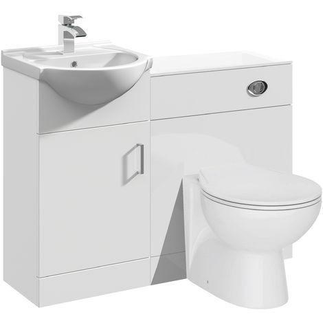 VeeBath Linx Vanity Bathroom Furniture Set WC Toilet Unit Pan Cistern - 950mm
