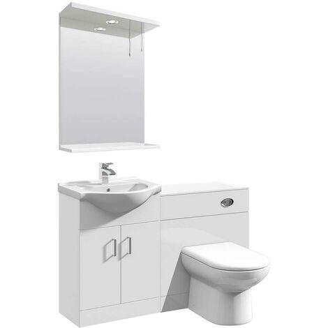 VeeBath Linx Vanity Unit WC Toilet Storage Cabinet Bathroom Furniture - 1150mm