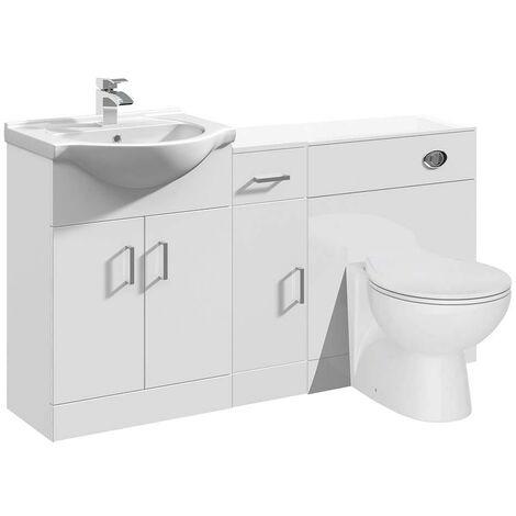 VeeBath Linx Vanity Unit WC Toilet Storage Cabinet Bathroom Furniture - 1400mm