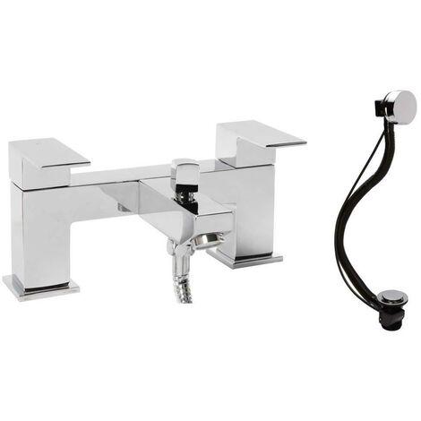 "main image of ""VeeBath Margate Minimalist Bath Filler Shower Head Mixer & Bath Pop-up Waste"""
