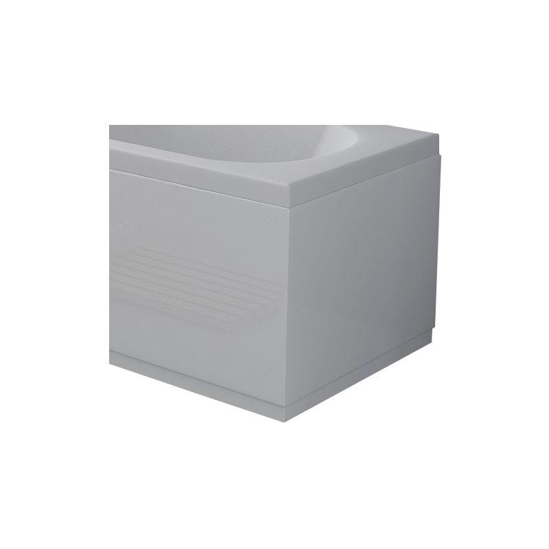 VeeBath Linx White Gloss MDF Wood Front Side /& End Bath Panel Adjustable Plinth