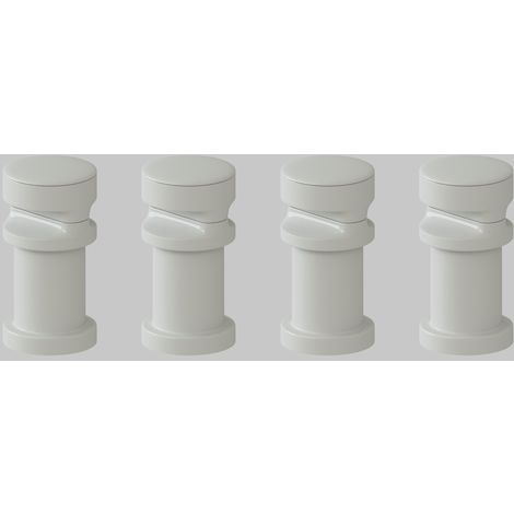 "main image of ""VeeBath Montpellier Oval White Rad Convert Brackets Vertical - Horizontal"""
