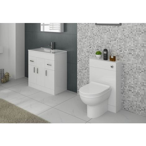 VeeBath Sphinx Bathroom Furniture Suite Vanity Basin Cabinet & WC Unit - 1600mm