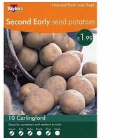 Vegetable - Taylors - Seed Potatoes - Carlingford - 10 Tubers - Second Earlies