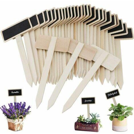 "main image of ""Vegetable vegetable labels, mini woodenboard labels for plants for flower pot seed grass vegetables 40pcs"""