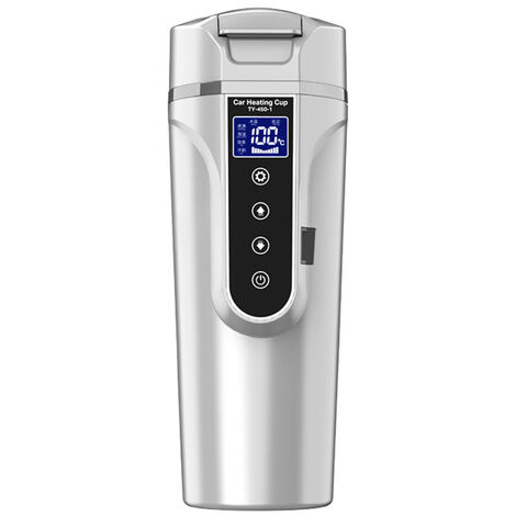 Vehiculo Taza de agua con calefaccion Hervidor electrico Preservacion del calor Coche de 12,0 V Camion de 24 V Calentadores de agua para vehiculos domesticos Pequenos electrodomesticos Pantalla LCD Hervidor