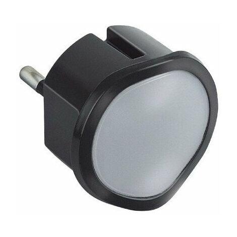 Veilleuse crépusculaire automatique avec LED haute luminosité - Noir - 050677 - Legrand