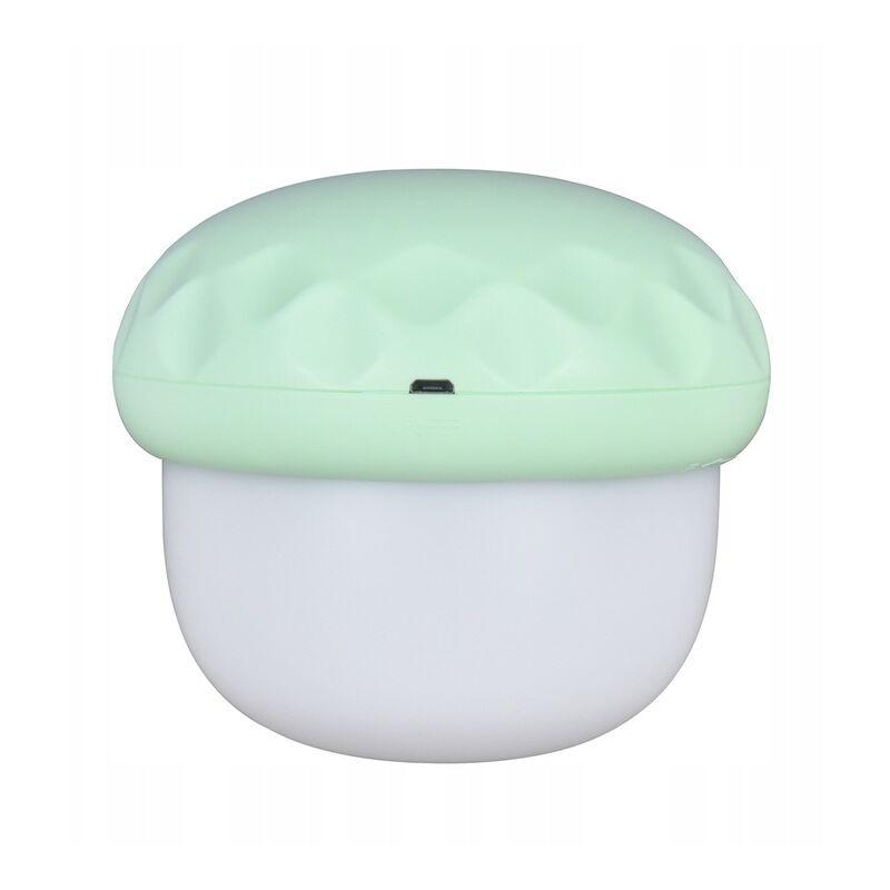 Veilleuse lampe de chevet bébé champignon lampe de projection ambiance vert clair - Perle Rare