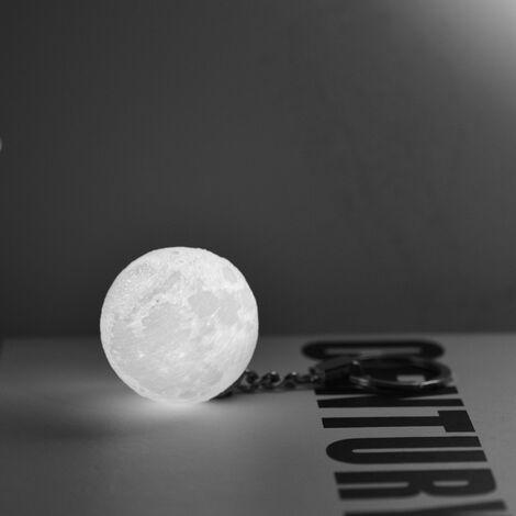 Veilleuse LED avec lumiere de lune imprimee en 3D avec 3 piles bouton LR41