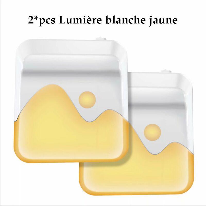 Veilleuse LED, Multi-Couleurs Lampe Nuit Murale Automatique Plug and Play avec Capteur Crépusculaire, Veilleuse Enfant Eclairage pour Chambre Bébé,
