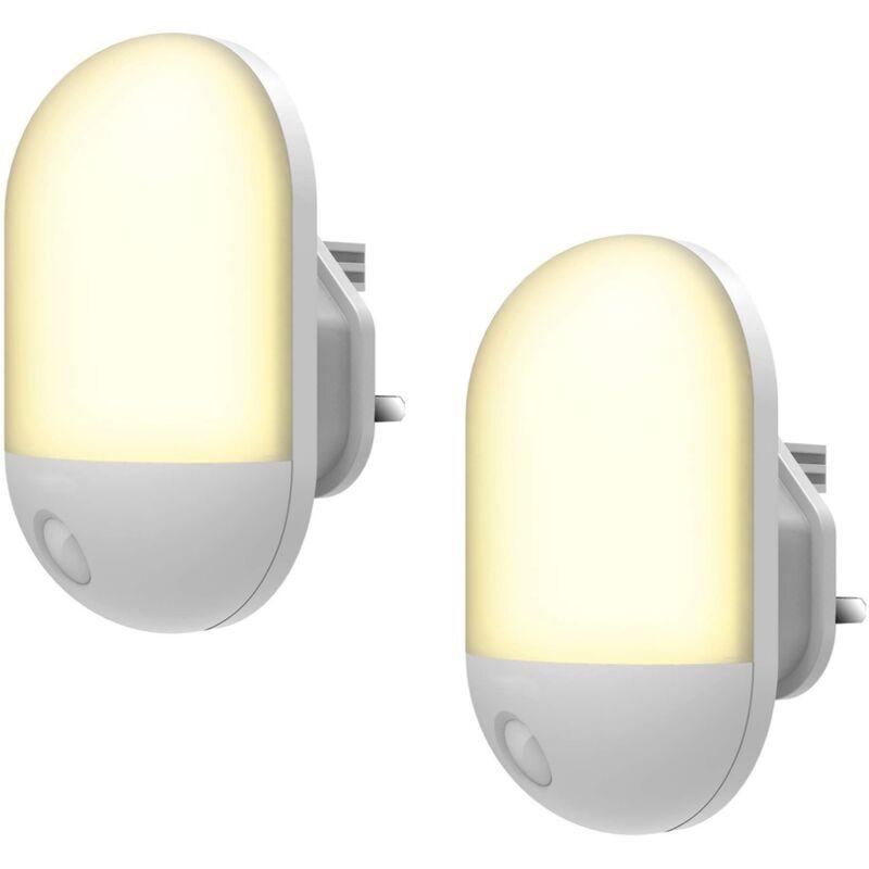 Perle rare Veilleuse LED , Veilleuse Bébé Minuterie Durée Eclairage 30/60 Min, Lampe Nuit 3 Niveau Luminosité, Veilleuse Enfant Plug-and-Play Blanc