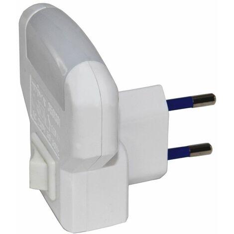 Veilleuse sur prise avec interrupteur - Blanc