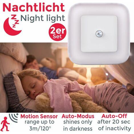 Veilleuses LED lampe de sécurité détecteur de mouvements lumière pour prise électrique 230V