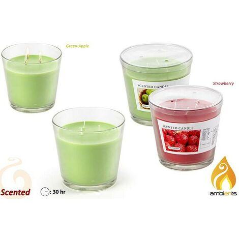 Vela aromática en vaso. 2 aromas Verde