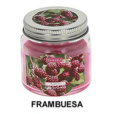 Vela Aromática Pequeña de Cera, en Vaso de Cristal. Diseño Vintage, con aroma Afrutado (6,1cm X 6,1cm X 6,2cm) - Hogar y Más Rosa