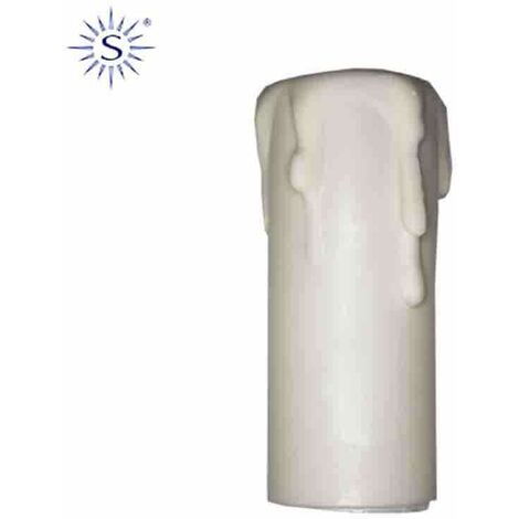 Vela corta para portalamparas e-14 blanco solera