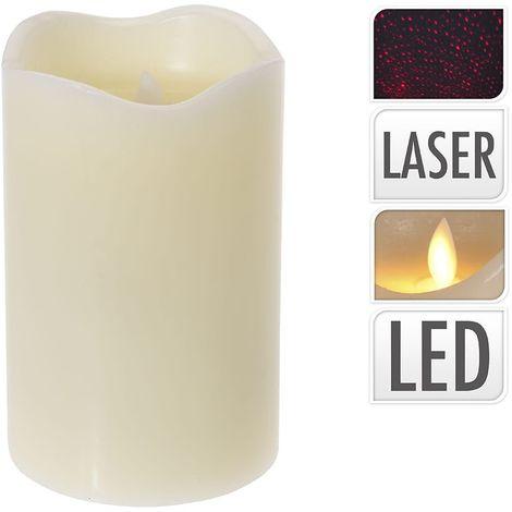 Vela de led efecto fuego real y laser
