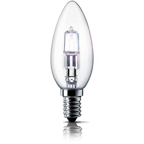 Vela eco-halógena E14 28 W Philips