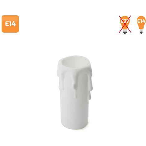 Vela embellecedora para portalámparas E14 blanca