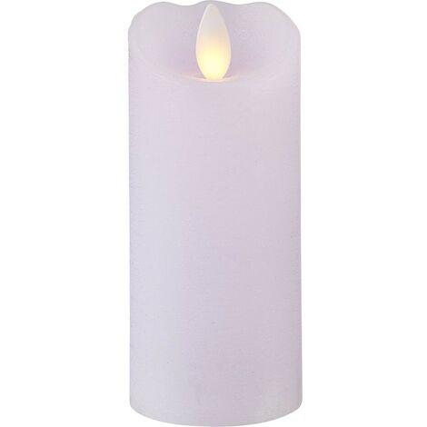 Vela LED en cera violeta pálida H13cm