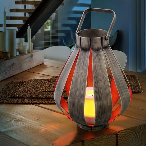 Vela luminaria LED moderna para la decoración de interiores con pilas para luz ambiental, esotec 202015
