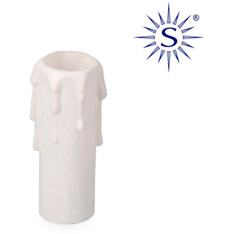 Vela meDiana para portalámparas E14 Blanco